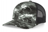Elements Aqua Camo Trucker Snapback Cap