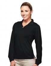 Tri Mountain 656 Eclipse Women'S Long Sleeve Golf Shirt