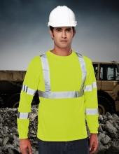 Tri Mountain 533 Median Men'S 100% Polyester Safety Ls Crewneck