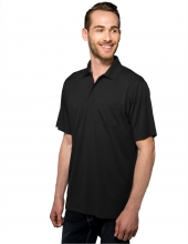 Tri Mountain K020P Vital Pocket Men'S 100% Polyester Knite Gold Shirt
