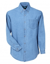 Tri Mountain 830 Trekker Heavyweight Denim Long Sleeve Shirt
