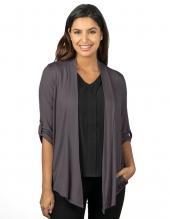 Tri Mountain Lb648 Mila Women'S 3/4 Sleeve Knit Cardigan