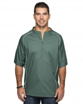 Adult Short Sleeve 1/4-Zip Poly Dobby Jacket