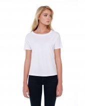 Ladies' 3.5 oz., 100% Cotton Boxy High Low T-Shirt