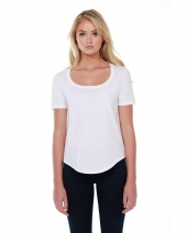 Ladies' 3.5 oz., 100% Cotton U-Neck T-Shirt