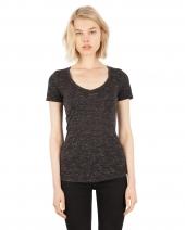 Ladies' 4.3 oz. Caviar Deep V-Neck T-Shirt