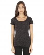 Ladies' 4.3 oz. Caviar Scoop Neck T-Shirt