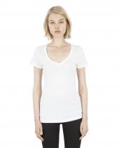 Ladies' 4.6 oz. Modal Deep V-Neck T-Shirt