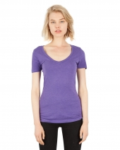 Ladies' 4.6 oz. Tri-Blend Deep V-Neck T-Shirt