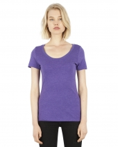 Ladies' 4.6 oz. Tri-Blend Scoop Neck T-Shirt