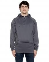 Unisex 9 oz. Polyester Air Layer Tech Quarter-Zip Hooded Sweatshirt