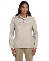 Ladies' Houndstooth Half-Zip Jacket