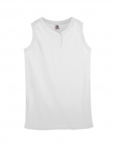 Girl's Sleeveless Two-Button Softball Jersey