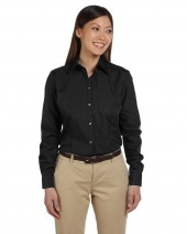 Ladies' Long-Sleeve Silky Poplin