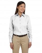 Ladies' Long-Sleeve Silky Poplin