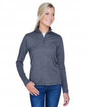 Ladies' Cool & Dry Heathered Performance Quarter-Zip