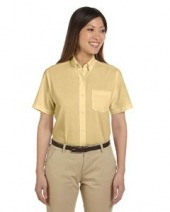Ladies' Short-Sleeve Wrinkle-Resistant Oxford