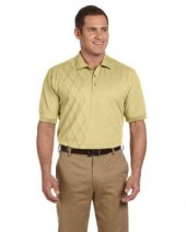 Men's Performance Oxford Pique Argyle Polo