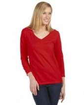 Missy Jersey 3/4-Sleeve V-Neck T-Shirt